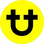 universal traveller logo icon yellow circle white background only