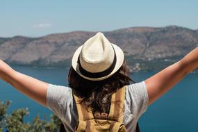 Universal Traveller girl in greek islands