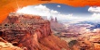 USA utah canyonlands arch rock wall